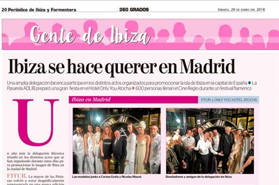 COLLABORATION WITH IBIZA AND FORMENTERA NEWSPAPER